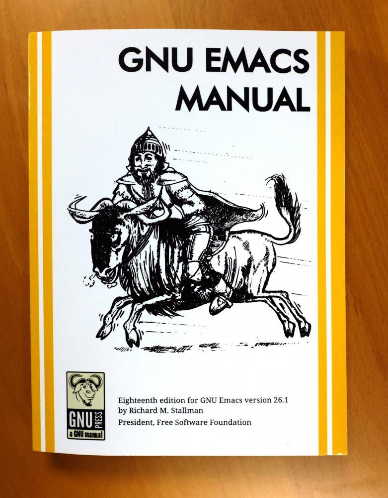 GNU Emacs Manual, 18th Edition, v  26 1 | FSF Shop