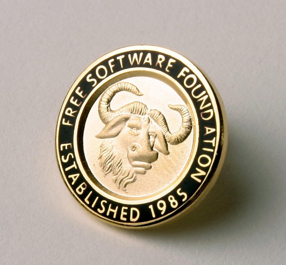 GNU Emblem Classic Pin | FSF Shop